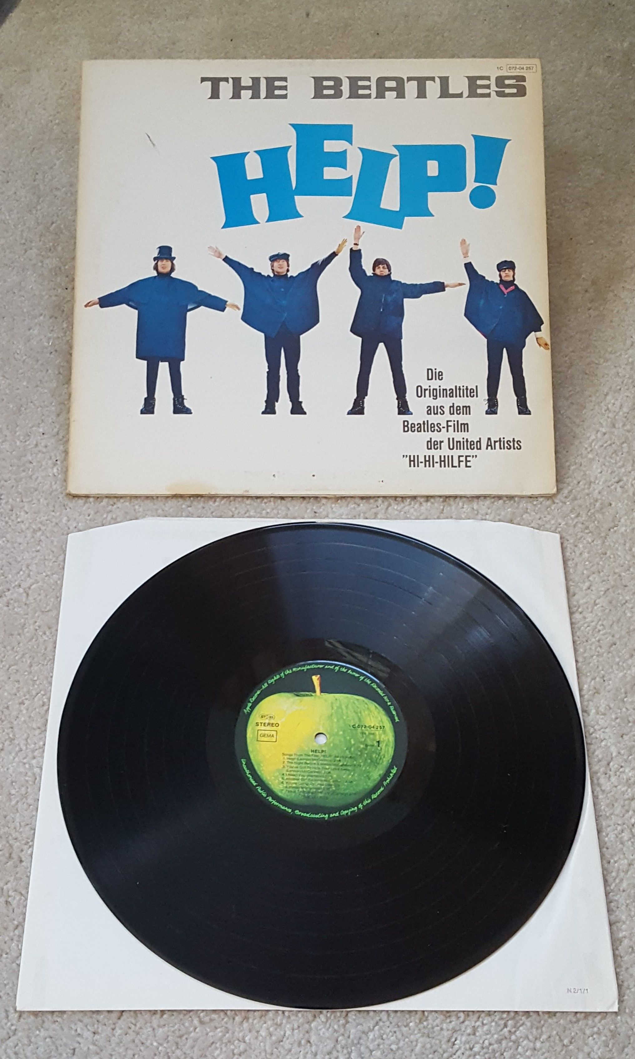 The Beatles Vinyl Help Lp 1978 German Import Reissue