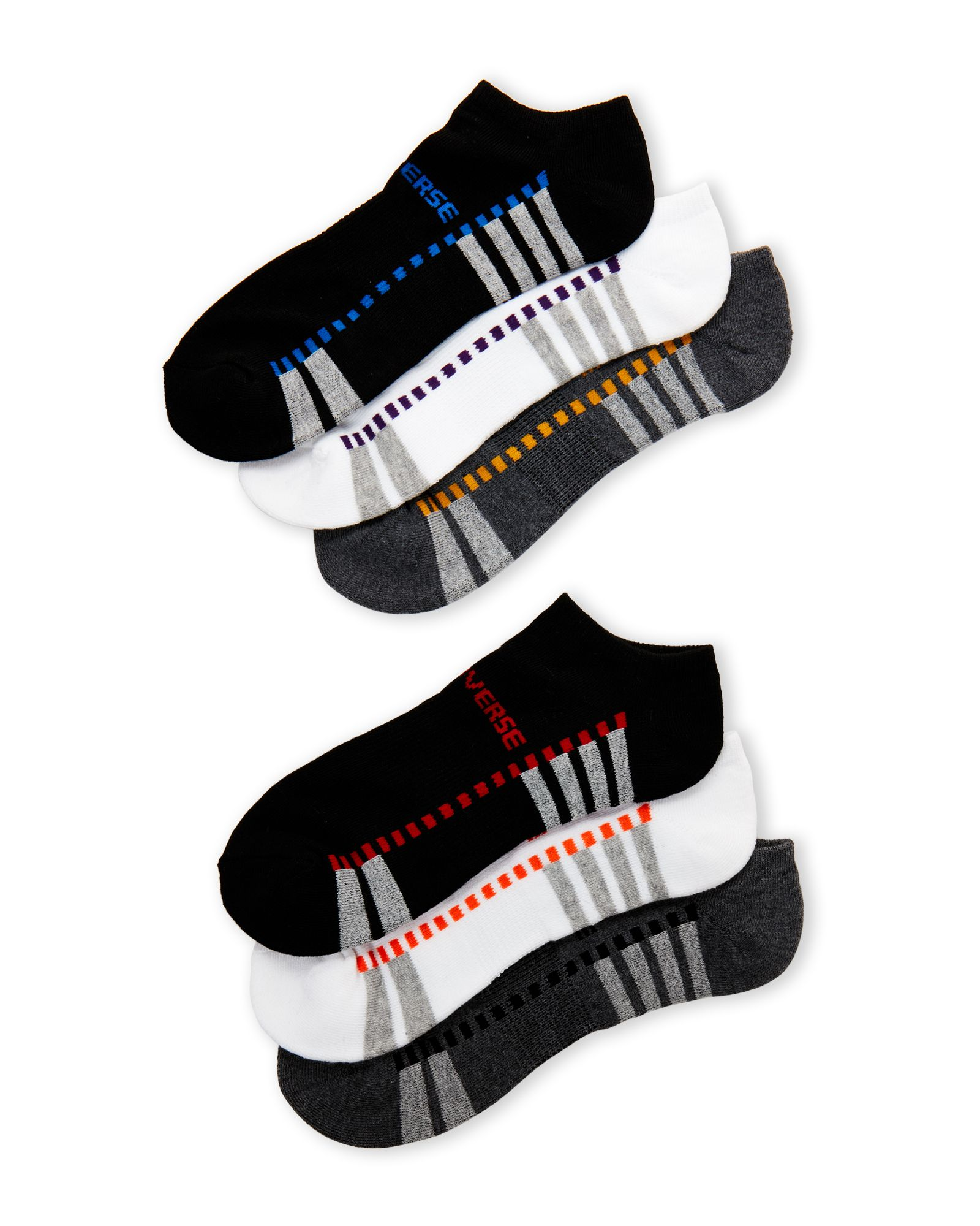 5c5fca89f3 Converse 6-Pack Color Dash No-Show Socks | *Apparel & Accessories ...