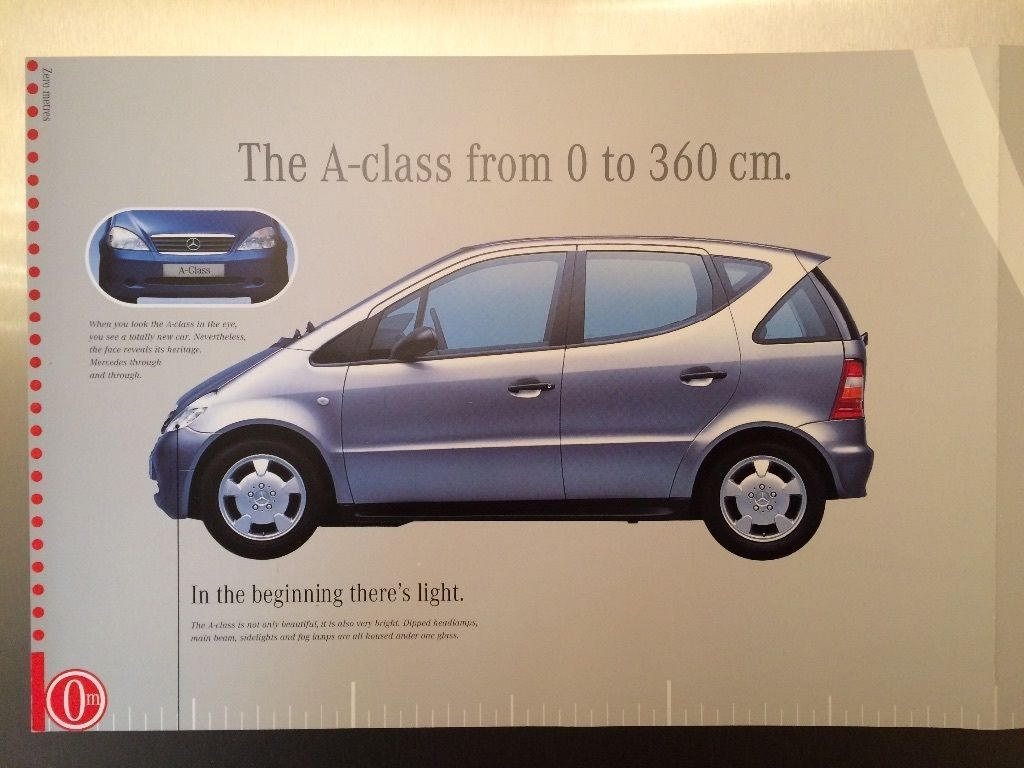 mercedes a class brochure first generation w168 1997 2004 ebay w168 mercedes benz. Black Bedroom Furniture Sets. Home Design Ideas