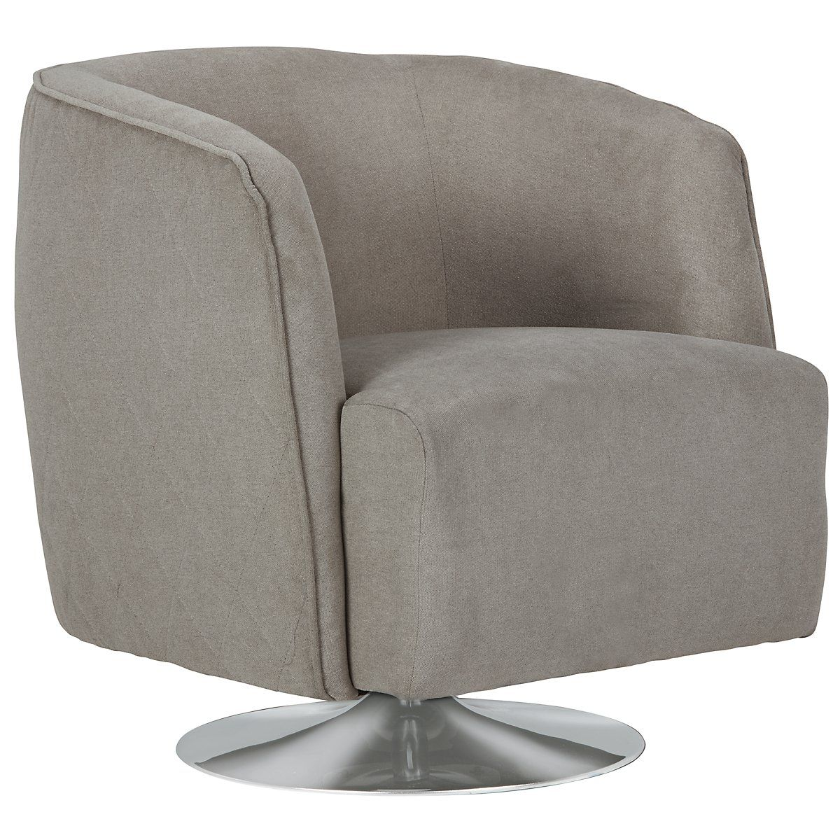 Baldwin gray microfiber swivel accent chair with images