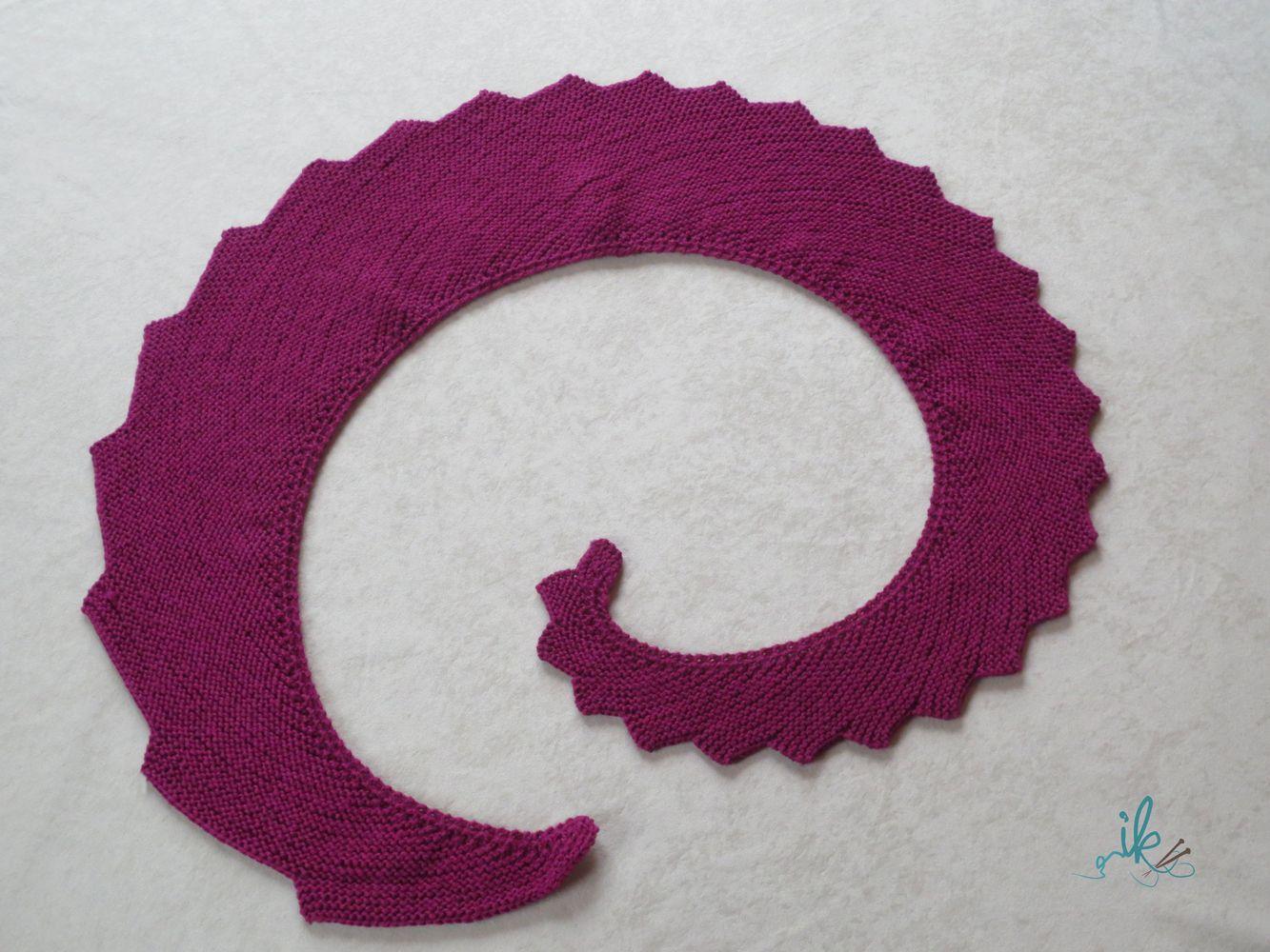 Wie stricke ich einen Drachenschwanz oder auch Drachenschal Strickanleitung kostenlos für sen einfachen aber dekorativen