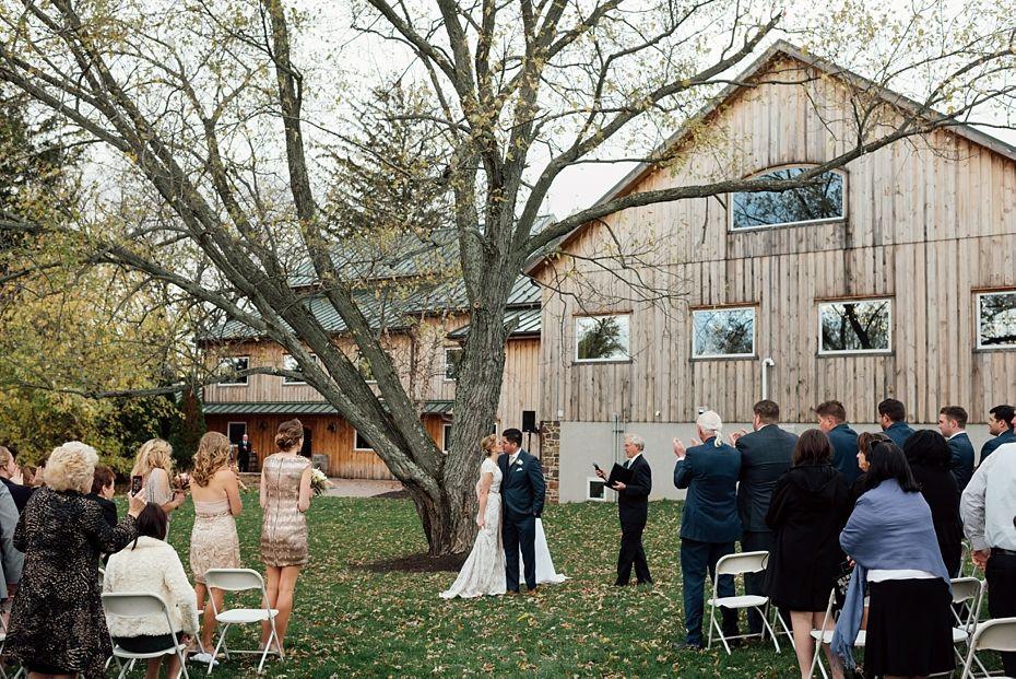 Brendan Rebecca S Rosebank Winery Wedding Winery Weddings Winery Outdoor Ceremony