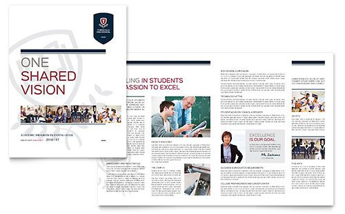 High School Brochure Template Design Pinterest Newsletter