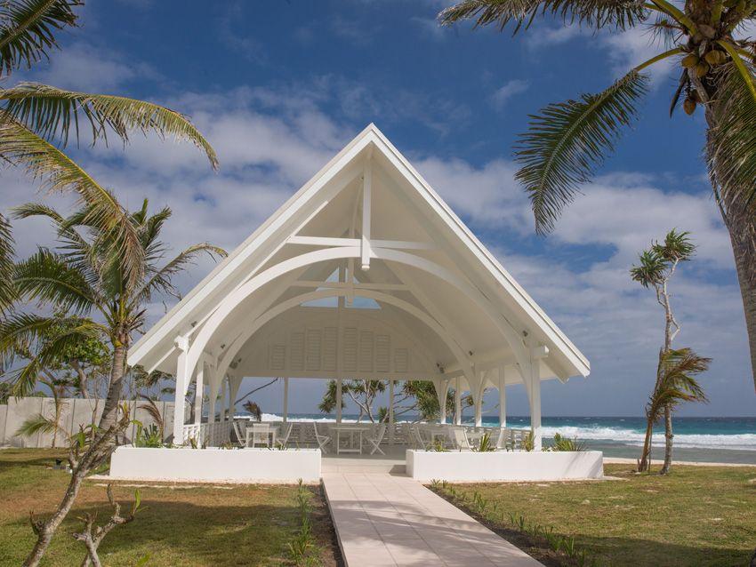 Beautiful open air chapel at tamanu on the beach vanuatu