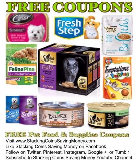 picture relating to Fresh Step Coupon Printable called No cost PRINTABLE Pet dog Food stuff Discount coupons 2015 No cost Dog Products