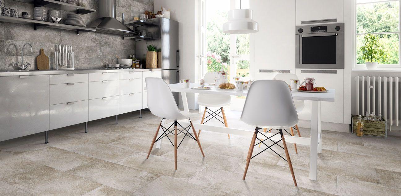 porcelanico - Cómo elegir el mejor suelo para tu cocina   cocinas ...