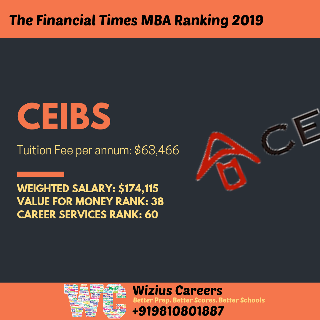 Financial Times (FT) MBA Ranking 2019 mba ranking