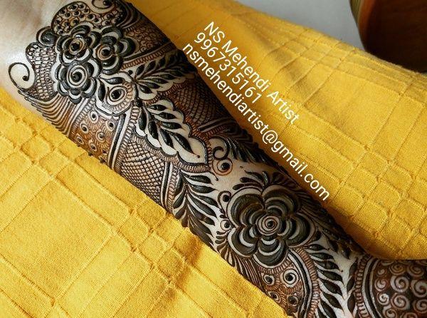 Mehndi Artist : Ns mehndi artist mumbai bridal mehendi designs