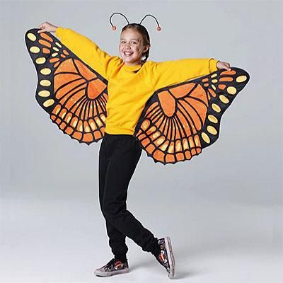 Homemade Halloween Costume Ideas For Kids Butterfly Costume Using A