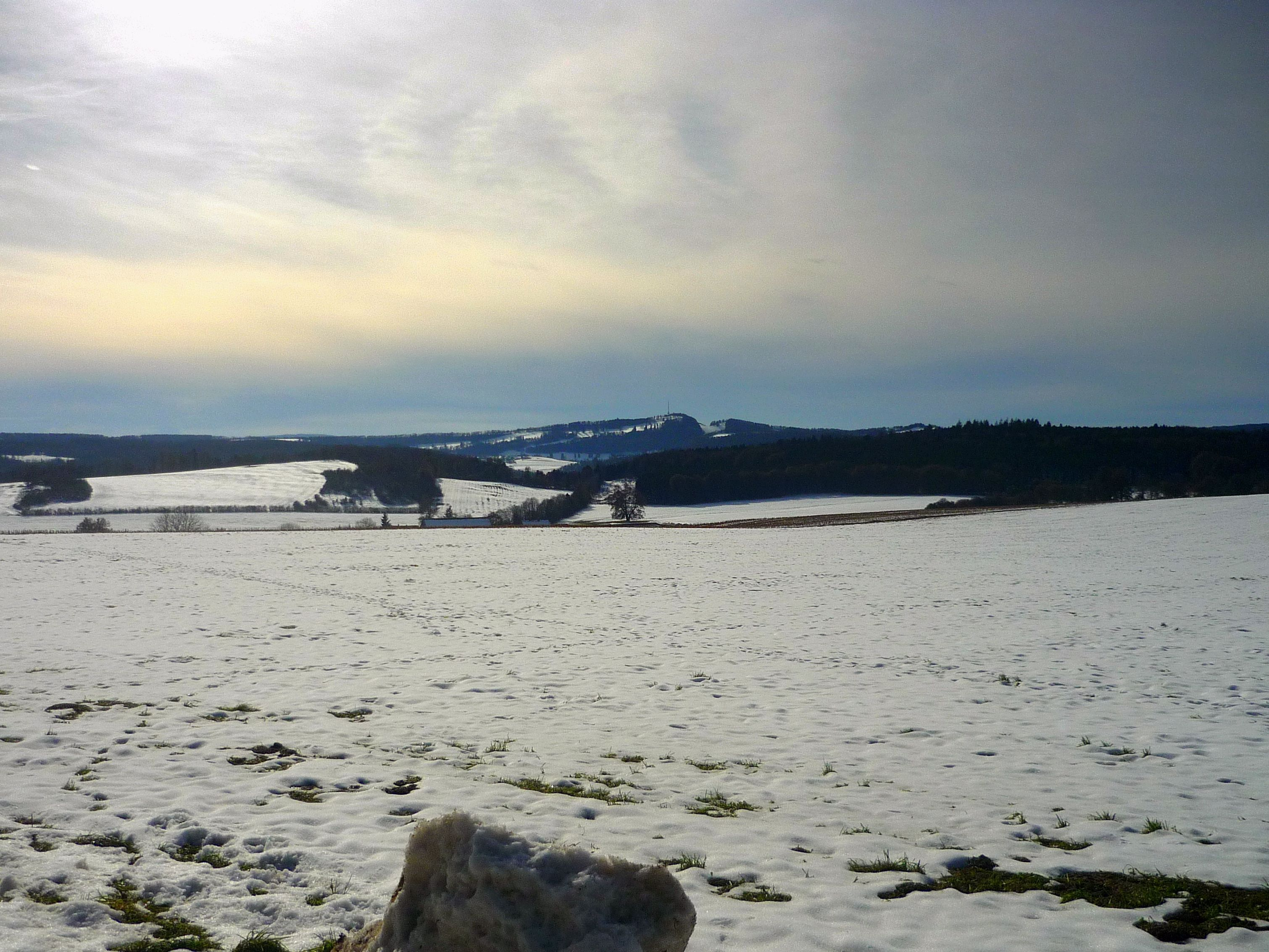 Voici les confins de l Alsace en hiver avec vue sur le Jura