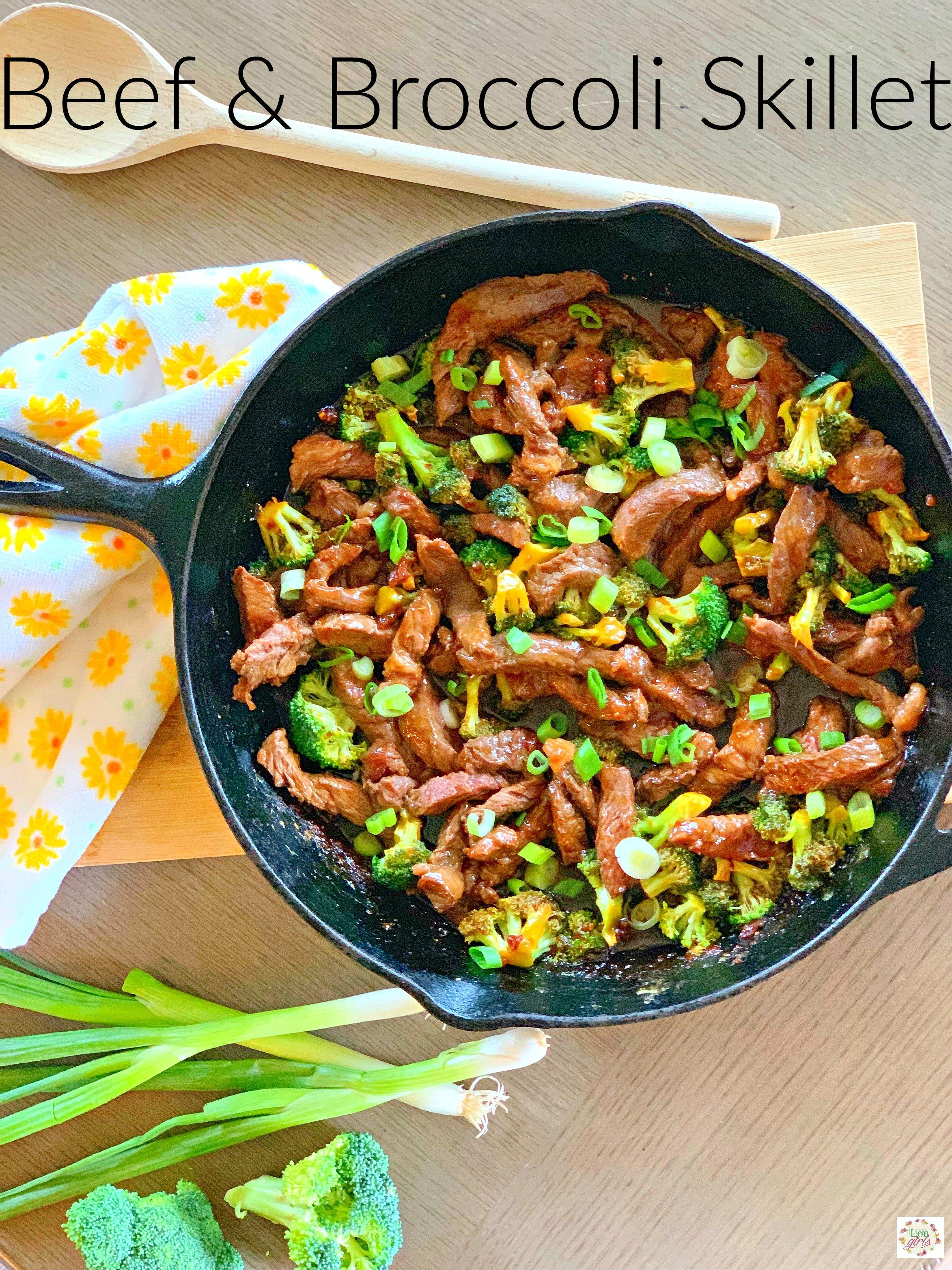 Beef and Broccoli Skillet #beefandbroccoli