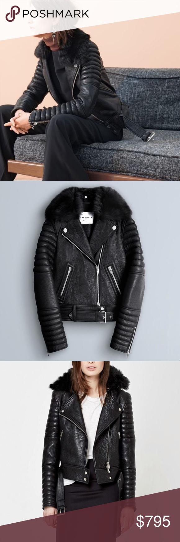 The Arrivals Rainier Leather Moto Jacket Sz Medium Leather Moto Jacket Outfit Zara Moto Jacket Outfit [ 1740 x 580 Pixel ]