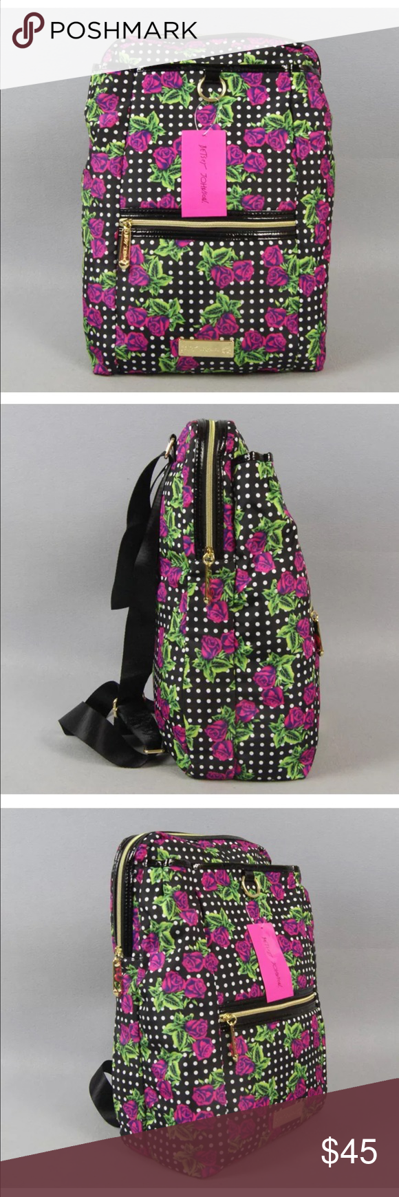 Betsey Johnson Backpack new with tags Next day shipping Betsey Johnson Bags Backpacks