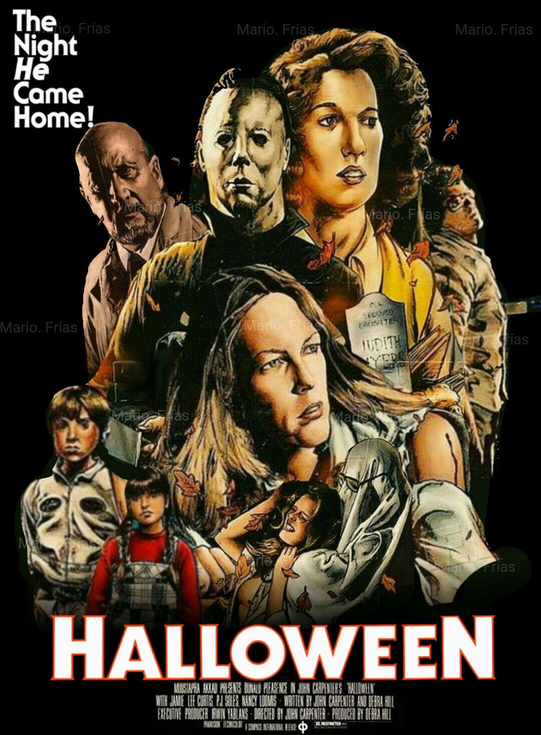 Halloween 1978 Movie Poster.Halloween 1978 Re Edit Mike Halloween Film Scary Movies