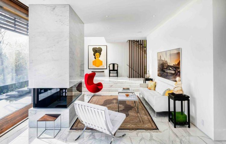 Fliesen Aus Marmor Als Bodenbelag Fur Ein Modernes Haus Mit Zen