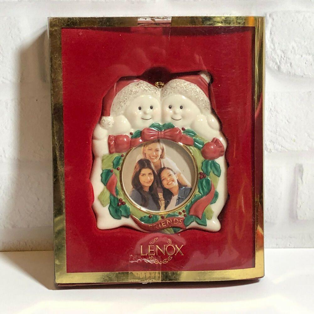 Lenox Snowman Friends Photo Frame Christmas Ornament Ebay Christmas Ornaments Picture Frame Ornaments Lenox Christmas Ornaments