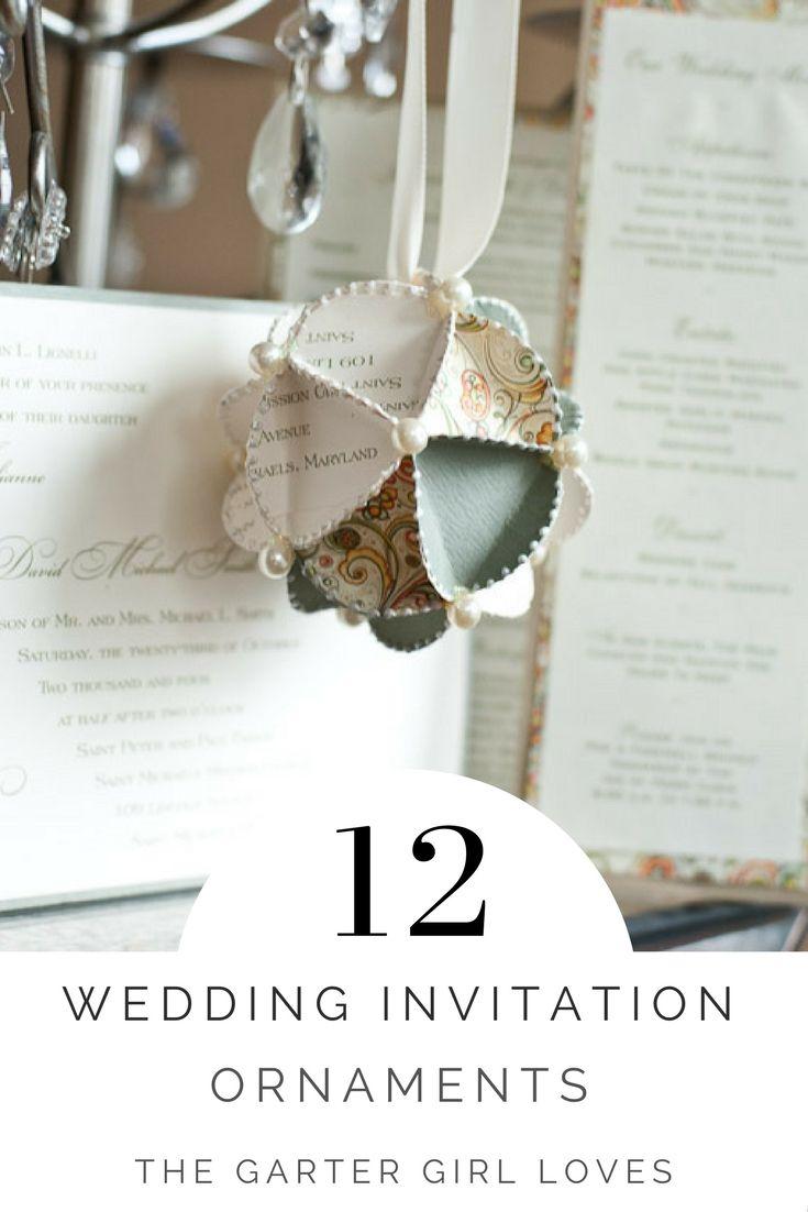 Personalized Wedding Invitation Ornaments   Wedding invitation ...