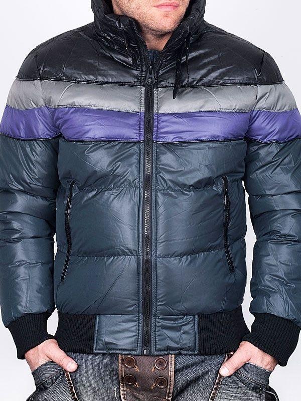 Men Winter Jackets MS Jeans Dark Grey Winter Jacket