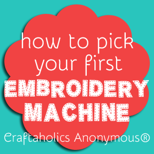Crafters weigh in on their favorite embroidery machines at Craftaholics Anonymous