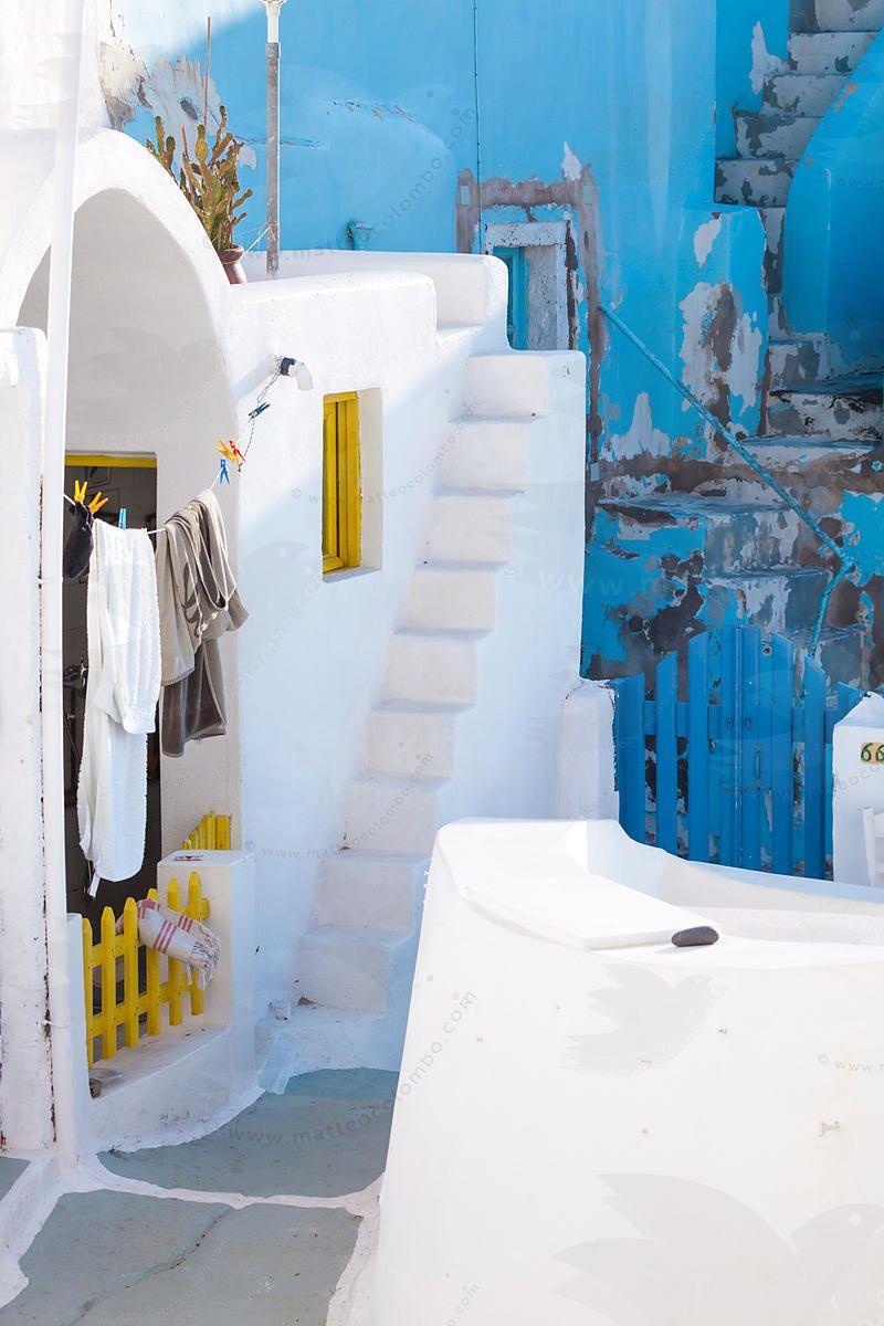 White houses in Oia, Santorini
