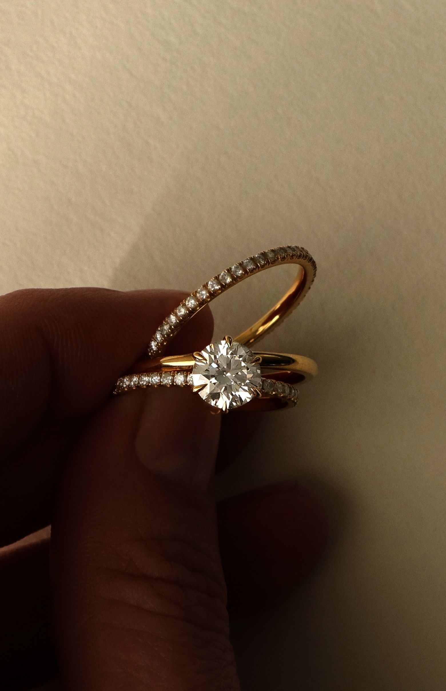 Victoria Kay 1/3ct Brown Diamond Ring in Yellow Plated