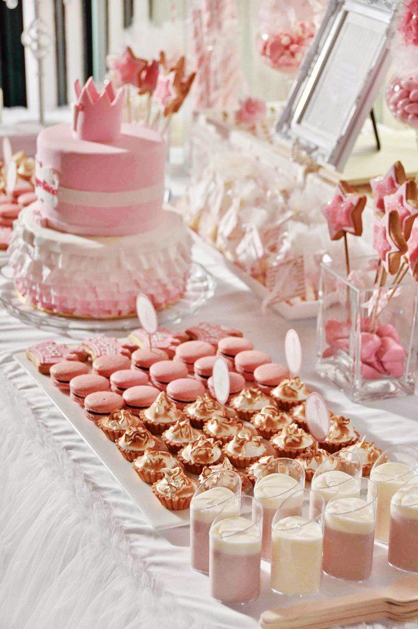 daddys little princess pink first birthday party pink dessert tablespink