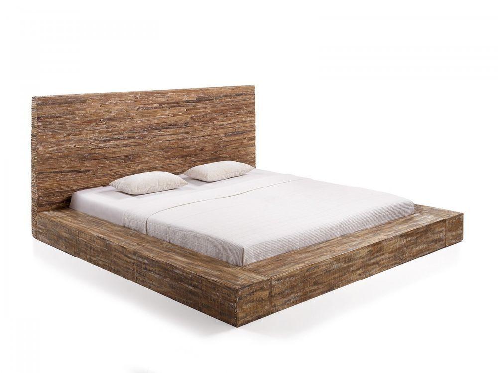 Bettgestell 180x200  Ehebett Bett 180x200 Massivholz Doppelbett Mango braun Bettgestell ...