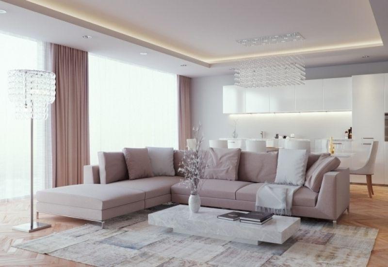 ideen wohnzimmer einrichten wohnküche neutrale farben indirekte - ideen für indirekte beleuchtung im wohnzimmer