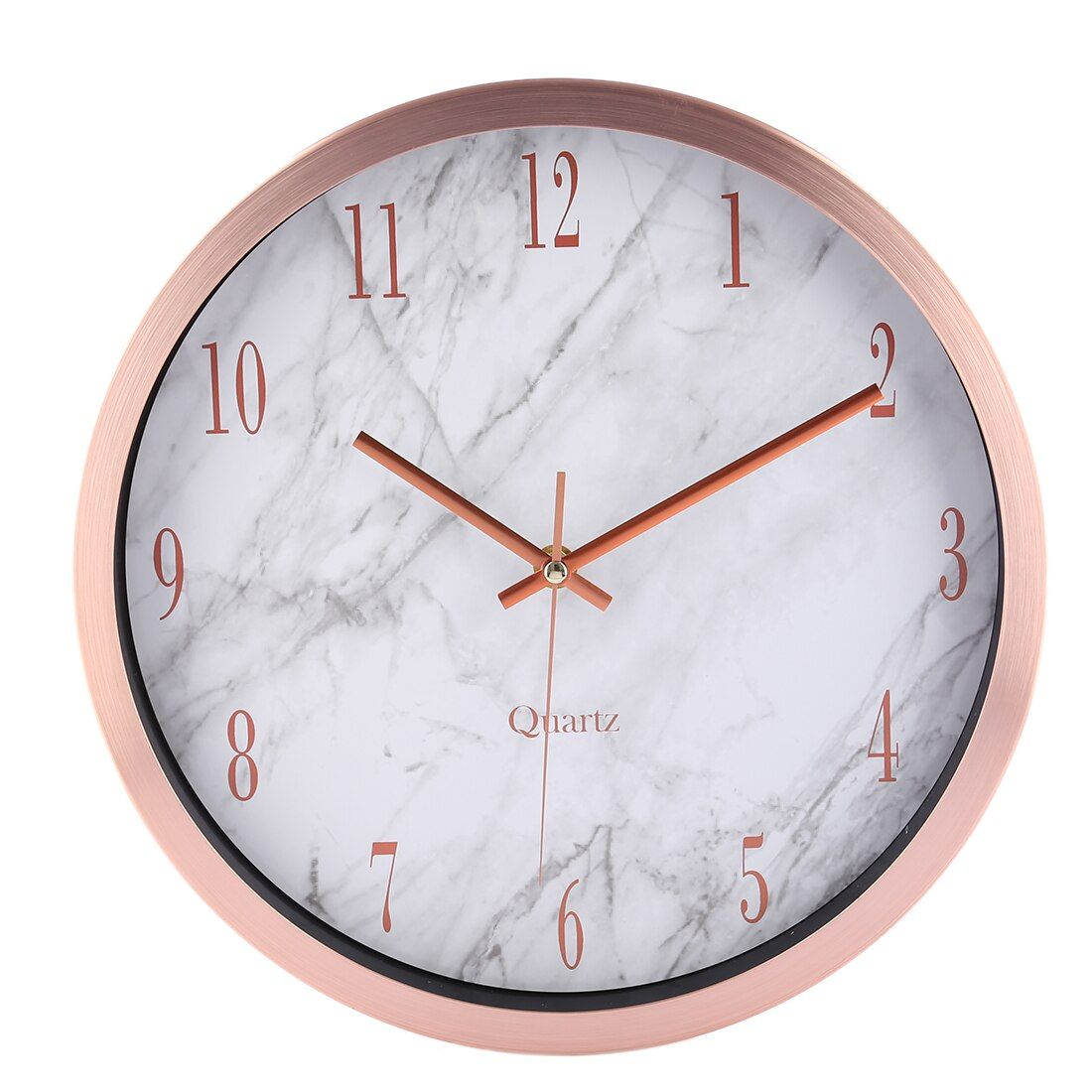 12 Inch Watch Wall Clocks Silente Round Marbling Household Office Livingroom Mute Hanging Clock Wall Decor Room Decor Bedroom Rose Gold Gold Room Decor Rose Gold Room Decor