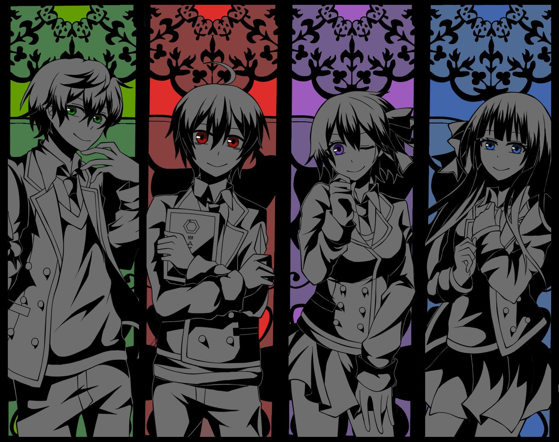 Shuuen no Shiori / Bookmark of Demise Characters: A-ya / B-ko / C-ta / D-ne