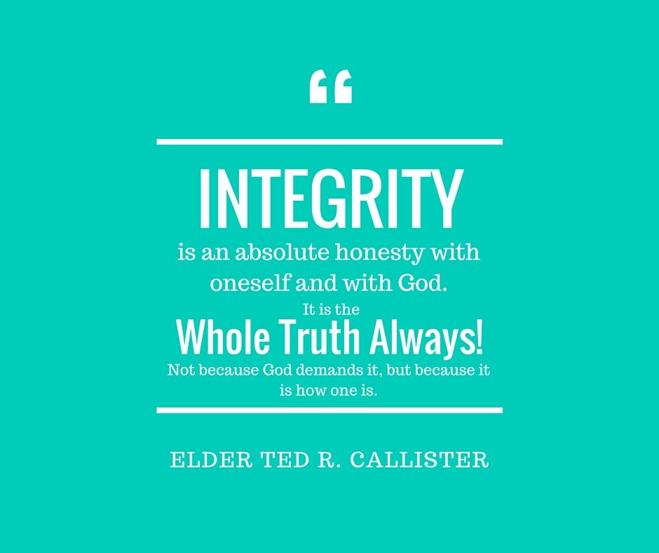Lds Dating Sites >> Elder Callister--Integrity | LDS Memes and quotes | Funny dating quotes, Integrity quotes ...