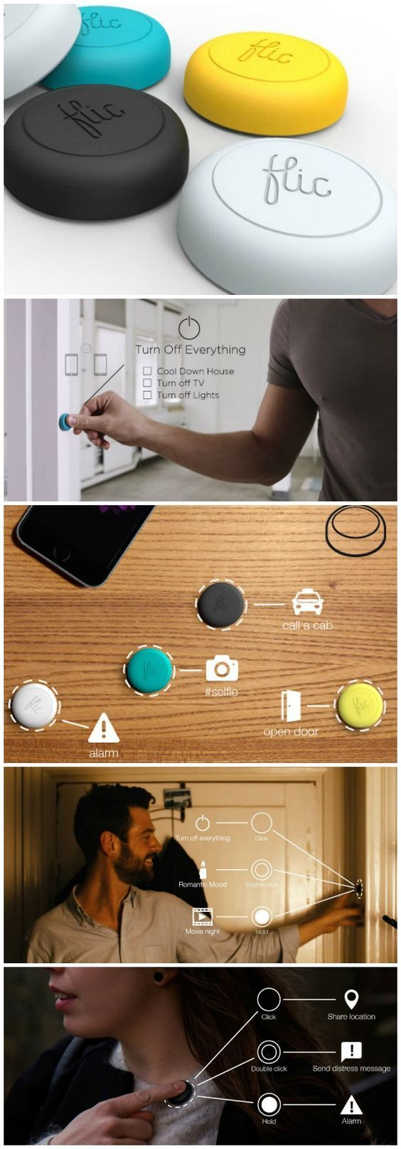 Flic is the Shortcut Button to your Phone - GetdatGadget #electronicgadgets