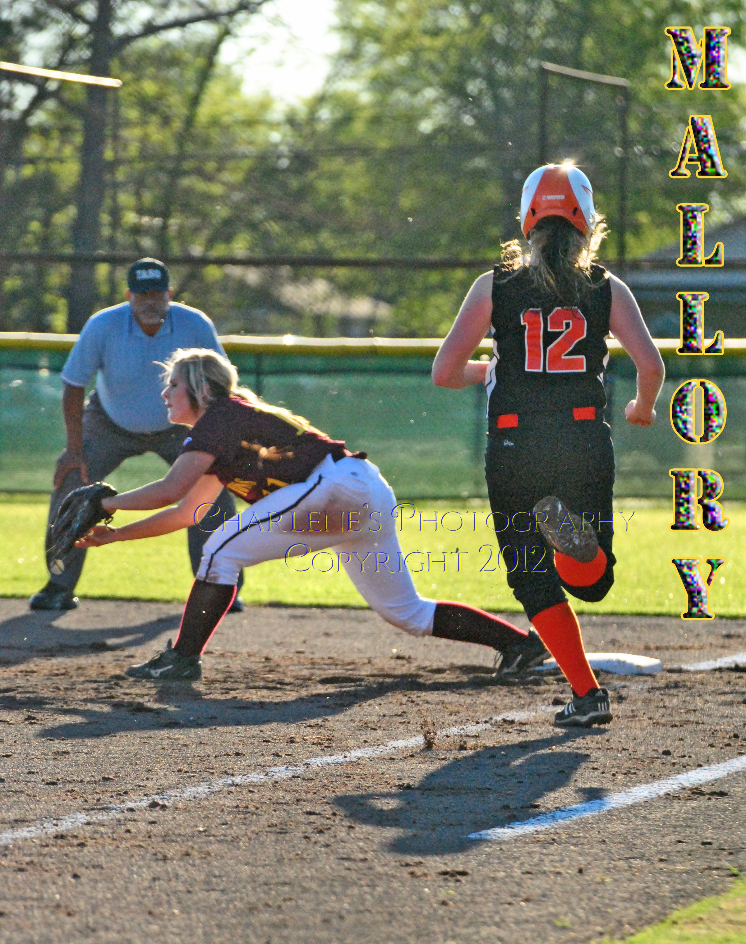 New Boston Lady Lion, #11 Mallory Ozmy a junior playing a rotation on first base.