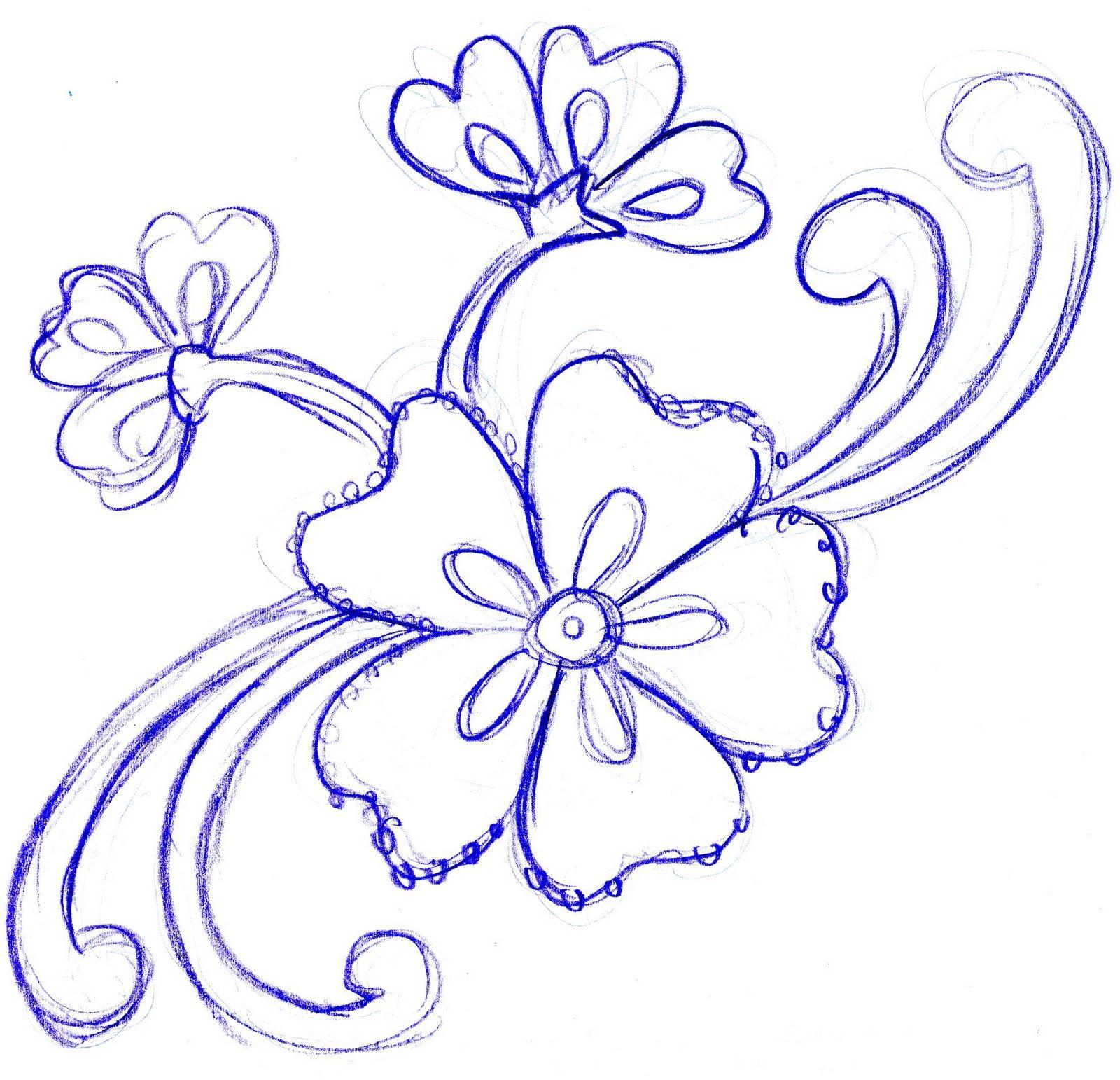 sketches of flowers - Google Search   Handwerk idees   Pinterest ...