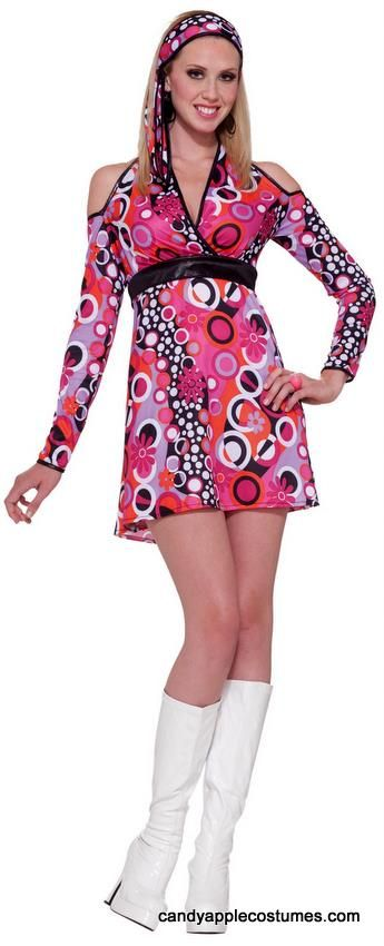 f594530eab1e Adult 70 s Hot Pink Mod Costume - 60 s and 70 s Costumes - Candy Apple  Costumes
