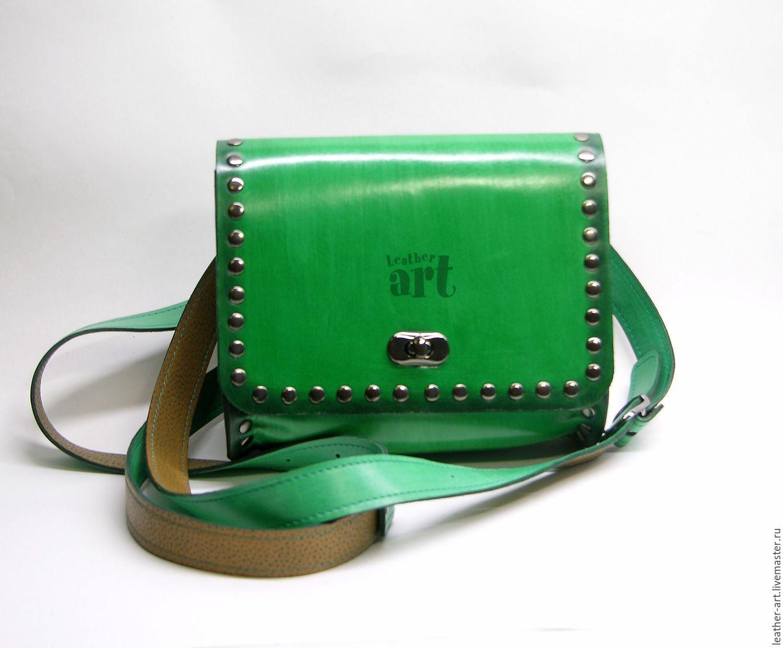 0107dbd00d1b Купить Сумка кожаная женская Торбочка - зеленый, однотонный, сумка ручной…