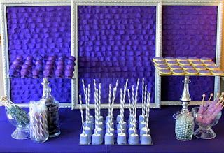 Dessert/candy table - all in purple and silver/gray!