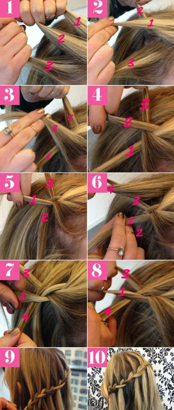 How To Master A Pretty Waterfall Braid Hair Styles Hair Lengths