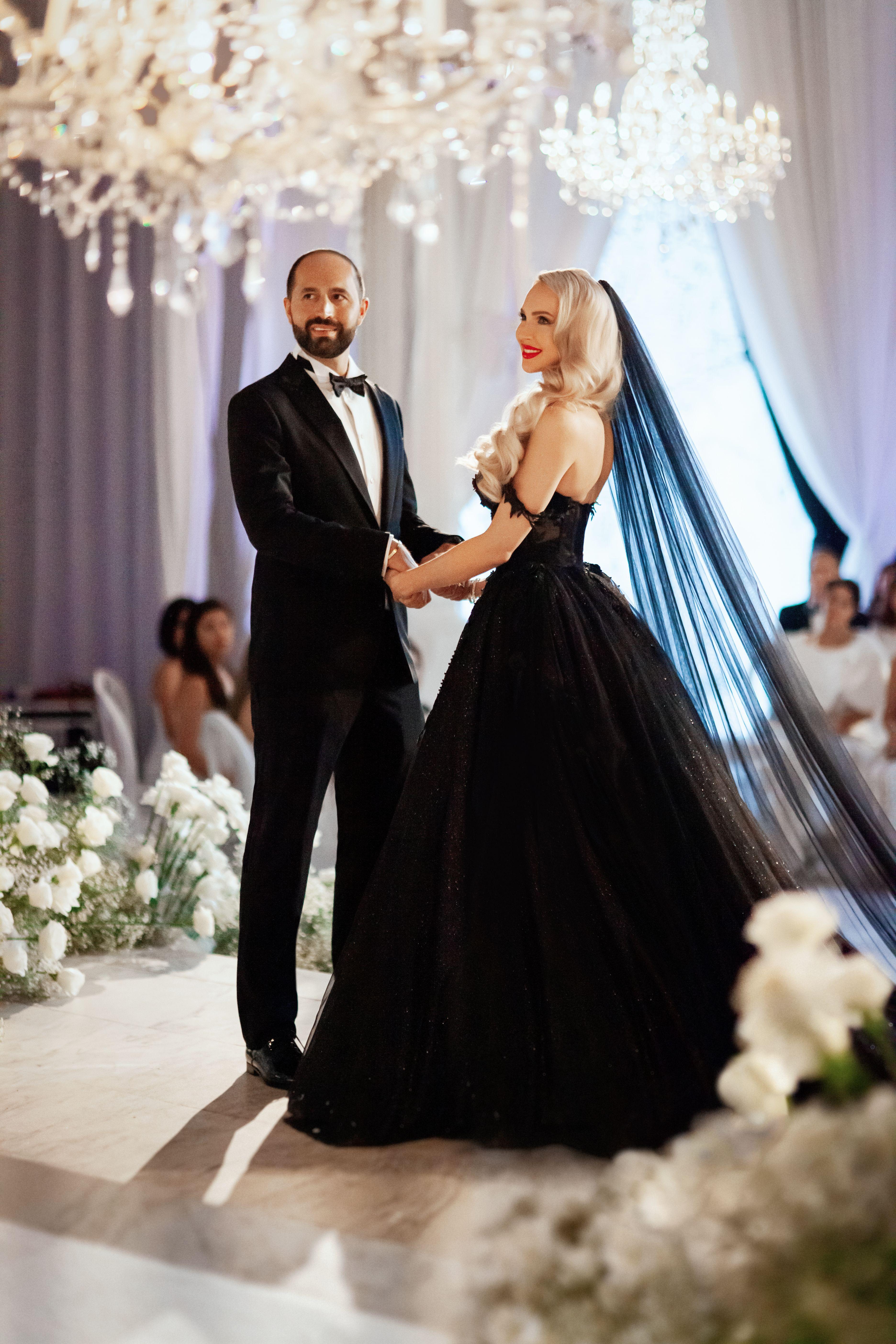 Galia Lahav Christine Quinn Black Bridal Ballgown In 2020 Black Wedding Dresses Sparkle Wedding Dress Black Wedding