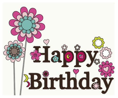 Happy Birthday elements card vector 02 - Vector Card free download - birthday greetings download free