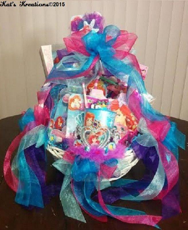 Little mermaid birthday party gift basket christianas pins little mermaid birthday party gift basket frozen gift ideaslittle mermaid birthdaygirl giftseaster negle Choice Image