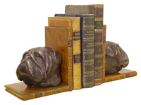 Bulldog Head Bookends