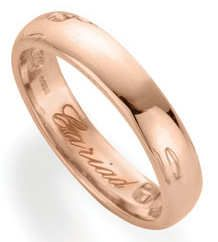 Gorgeous Welsh Rose Gold With The For Beloved Engraved Inside