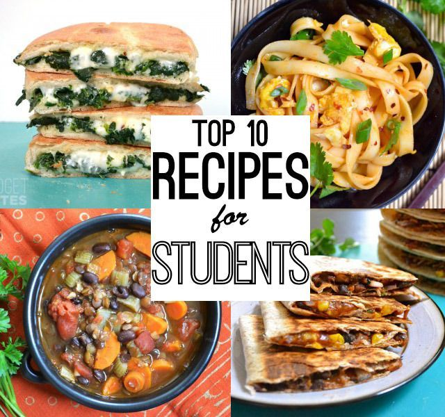 30 Easy Recipes For College Students Student Recipes Recipes For College Students Recipes