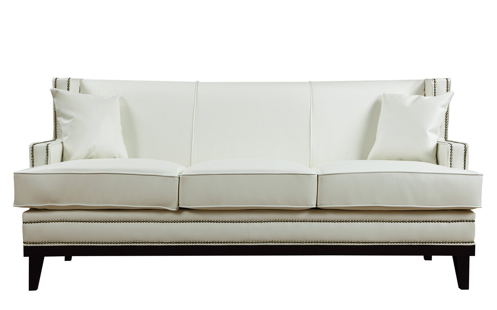 Abe Old Hollywood Nailhead Trim Bonded Leather Sofa Best Leather Sofa Leather Sectional Sofas Sofa Deals