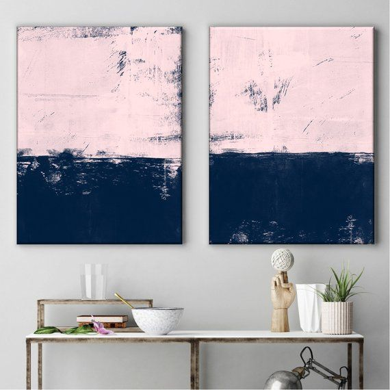 Pink Blue Art Abstract Art Contemporary Art Abstract Etsy Blue Canvas Art Modern Art Paintings Abstract Abstract Art Painting