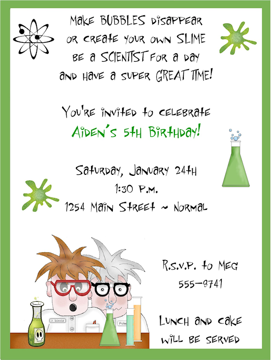Mad Science Birthday Party Invitations Mad Scientist Party - Birthday invitation design online