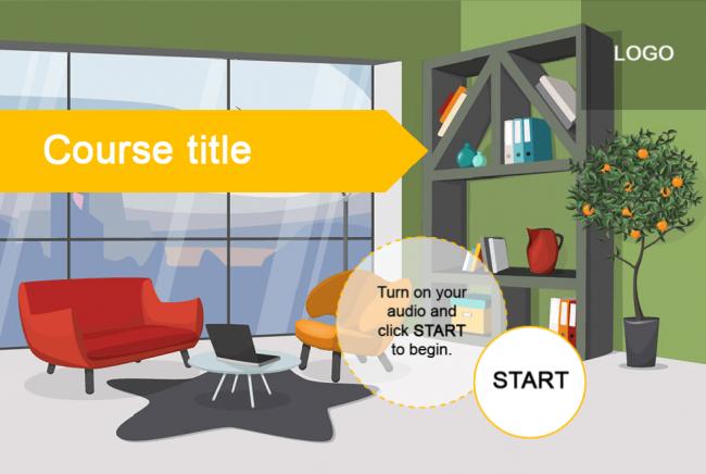 Office Interior Course Starter Template Adobe Captivate Online