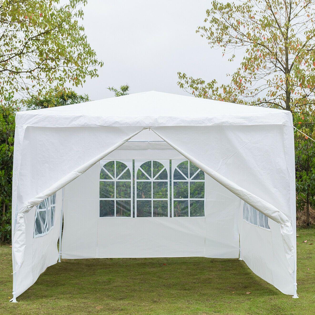 Quictent 10 X10 Outdoor Canopy Party Wedding Tent Gazebo Pavilion 2 Window Side Walls 2 Zippered Walls Walmart Com In 2020 Canopy Tent Outdoor Canopy Outdoor Gazebo Tent