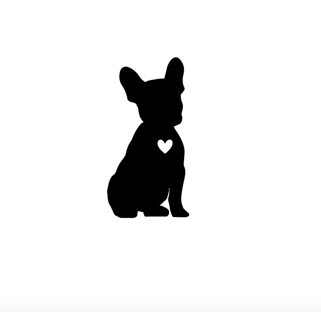Chalkboarddogs French Bulldog Canine Silhouettes Drawing Silhouette Drawing Bulldog Drawing Bulldog